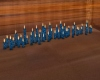 Sm. Flr Candles-Teal/blk