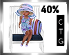 CTG KID'S WHIT/NVY CHAIR
