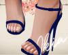 !A blue basic sandal