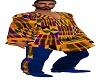 MEN AFRICAN KENTE PONCHO