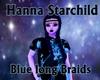 Blue long Braids