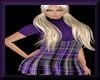 Plaid Jumper Purple