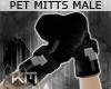 +KM+ Pet Mitts 2 BLK M