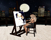 Artist Easel Painting