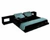 black&teal poseless bed