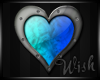 {Wish}Teal Blue Heart