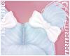 F. Doll Bun Bows White