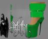 holiday fur heels green