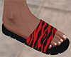 Red Stripe Sandals (M)