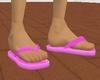 [JD] Hot Pink Flip Flops