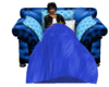 blue chair w/blanket