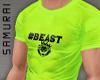 #S Gym Beast #Neon Green