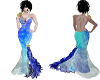 Blue & Gold Wedding gown
