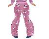 Pink snowman jammie pant