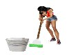 ANTIMATED MOP w/ BUCKET