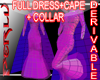 (PX)Full Fishtail+Cape