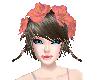 SummerPeach Hair Flower