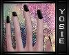 ~Y~Black Finger Nails