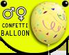 Yellow Confetti Balloon