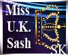 Miss U.K. Sash
