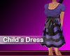 Kids Purple Bow Dress