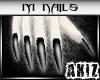 ]Akiz[ LM Black Nails