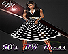 [M] 50's BW Dress