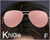 K rose gold sunglasses F
