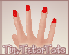T. Red Short Nails