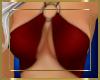 Bikini Ringed Top Red
