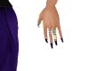 Dark Blue Nails w/Rings