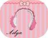 Pink & white earmuffs