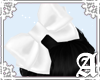 Satin Bow~ White