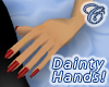 Dainty Hands (Red Nails)