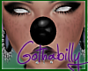 Gothic Black Clown Nose