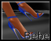 Leather Blue Heels