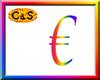 C&S Rainbow Euro Sign