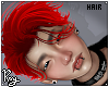 Red Adrien Hair