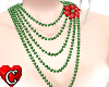 PearlsNecklace red+green