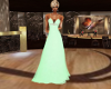 mint green evening dress