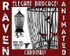 VINTGE CARDINAL BIRDCAGE