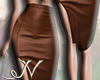N. Brown Leather Skirt