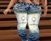 jeans avec motif