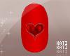 Valentine Heart Nails