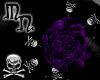 ~MN~BruisedRoseSkullClip