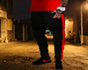 Black w Red Trap Joggers