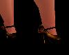 Burnt Orange Chain Heels