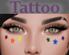 Tattoo Cheeks Stars Rnbw