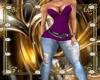 [DE]Purple Jeans Dress