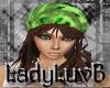Green/aub hat&hair